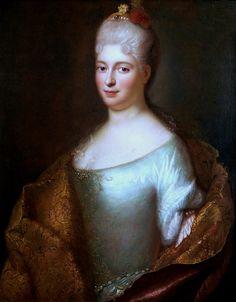 Portrait of Elżbieta Sieniawska by Ádám Mányoki, 1715-1718 (PD-art/old), Magyar Nemzeti Galéria