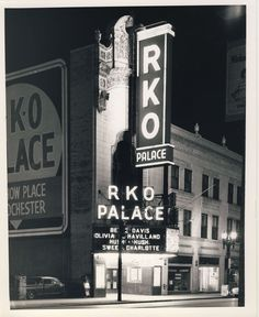 Rochester's RKO Palace Theater prior to demolition. Main entrance on Clinton Ave. 1964. The theater originally opened on December 25, 1928 a...