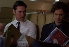 Cutest thing ever  Hotch seems so proud of the kid