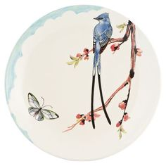 Bring a pop of printemps charm to your next luncheon or dinner party    Dinner plate $59.50/4s