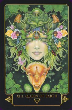 The Dreams of Gaia Tarot is a stunning 81-card deck of fantasy art from artist, Ravynne Phelan. Her first tarot deck is a showcase of her gorgeous artwork and also a complete and detailed re-imagining of tarot. The beautiful set includes a 308 companion book, also by the artist.