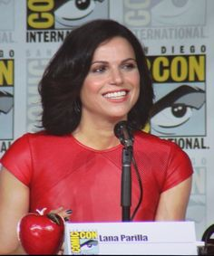 Lana Parrilla at the Once Upon A Time SDCC panel.