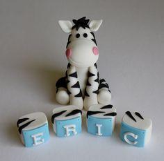 Fondant 4 Zebra Cake Topper от KimSeeEun на Etsy, $37.95