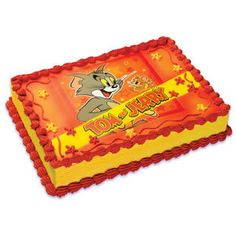 Tom and Jerry Edible Image Cake Topper