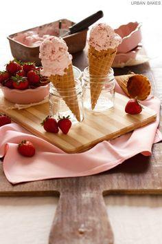 Fresh Strawberry Pretzel Ice Cream   urbanbakes.com
