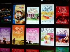 Reader Sarah F has started collecting my #ebooks. <3 They're so pretty, all lit up like this!!!