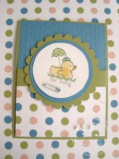 Cards, Stampin' Up!, Baby Card