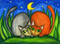 night cats by ewung, via Flickr