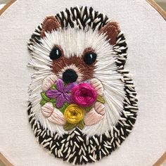 I am having so much fun stitching this little hedgehog! I'm almost finished...just need to add some shading to Pippi's fur (I've named her…