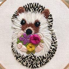 Hedgehog, embroidery