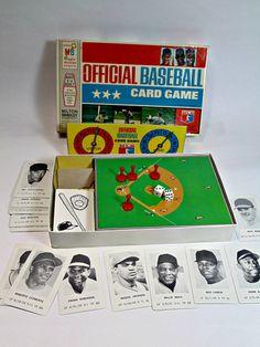 Vintage 1970 Official Baseball Card Game Milton Bradley
