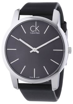 Amazon.com: City Men's Watch Dial/Cace Color: Grey/Silver: Calvin Klein: Watches saved by #ShoppingIS
