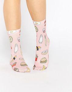 Image 1 ofMonki Fast Food Sock
