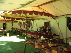 Henry the VIII tent from the inside.  Check out the attention to mideaval detail.