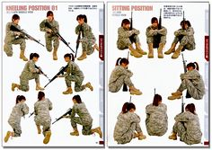 Real Action Pose Collection Drawing Reference Book - Gun Action Guide - Anime Books