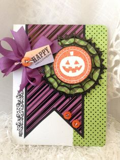 Halloween Card - Vintage- Style Halloween - Handmade Halloween - Shabby Chic…