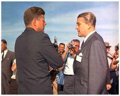 Meeting>, President Kennedy & Von Braun, 19 May 1963