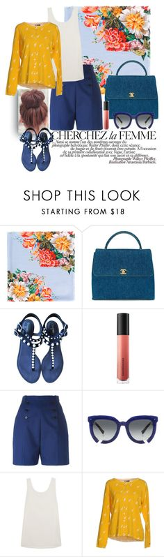 """""""Sunny saturday"""" by mydreamingcloset ❤ liked on Polyvore featuring Gucci, La Femme, Chanel, Bare Escentuals, Carven, Grey Ant, Chloé, Tommy Hilfiger, Flowers and weekend"""