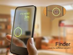 Add a sticker to things you lose a lot, then track them with the device. I NEED THIS.