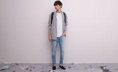 Pull&Bear - man - jeans - basic jeans - blue - 05682545-V2015