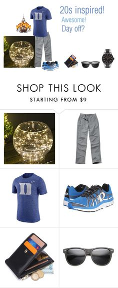 """""""For Michael (cousin) - Michael's ideal wardrobe by me: 20s inspired!"""" by sarah-m-smith ❤ liked on Polyvore featuring NIKE, Pearl Izumi, Kalco, ZeroUV, Nixon, men's fashion and menswear"""