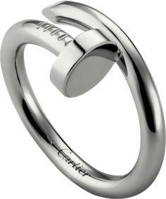 Juste un Clou ring White gold