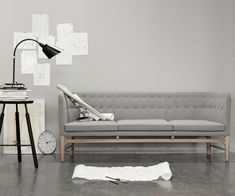 einrichten wohnen Idee komplett grau Wohnzimmer