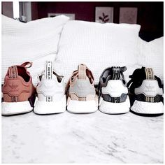 """6452ad0709791 Nienke on Instagram  """"Which colour Adidas NMD would you choose 👟 I m in  loveee with the pinkish one🙋🏼 ♀ Some Sunday sneaker inspiration from ..."""