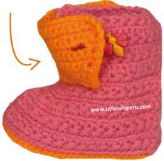 botitas para bebe tejiendo per