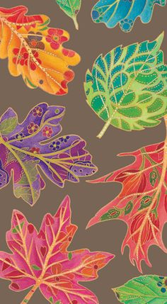 Caspari Jeweled Autumn bronze Foliage Printed 3-Ply Paper Guest Towels Wholesale 12881G
