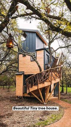Tiny House Cabin, Tiny House Living, Tiny House Plans, Barn House Plans, Tree House Homes, Tiny Cabin Plans, Cabin Homes, Tiny Homes, Dream Home Design