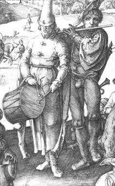 Lucas Van Leyden (Netherlands, ~ Drummer and Fife Player ~ Lucas van… Medieval Art, Renaissance Art, Jungian Archetypes, Engraving Art, Landsknecht, Historical Art, Guy Drawing, Albrecht Durer, Gravure