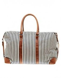 "Amazing weekender bag. I got an amazing leather/canvas one from Bags.com that an old lady at LAX called ""Fabulous"""