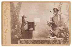 ca. 1870-1900, [cabinet card, portrait of a photographer and his subject], F. Girard via Cowan's Auctions