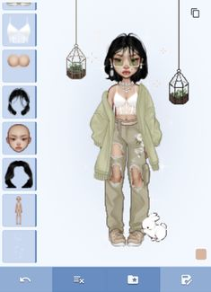 Fae Aesthetic, Classy Aesthetic, Aesthetic Clothes, Bratz Doll Outfits, Pretty Outfits, Cute Outfits, Cartoon Hair, Cool Avatars, Virtual Fashion