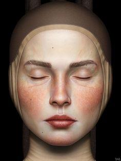 """Contemplatio"", Digital Painting by Gianluca Gambino aka Tenia, Catania, Italy. (detail)"