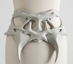 Sculptural Belt with elegant symmetry & construction - wearable art; statement accessories // Anne Sofie Madsen