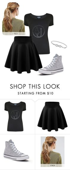 """Untitled #29"" by katepenna ❤ liked on Polyvore featuring Armani Jeans, Converse, Kitsch and Malin + Mila"