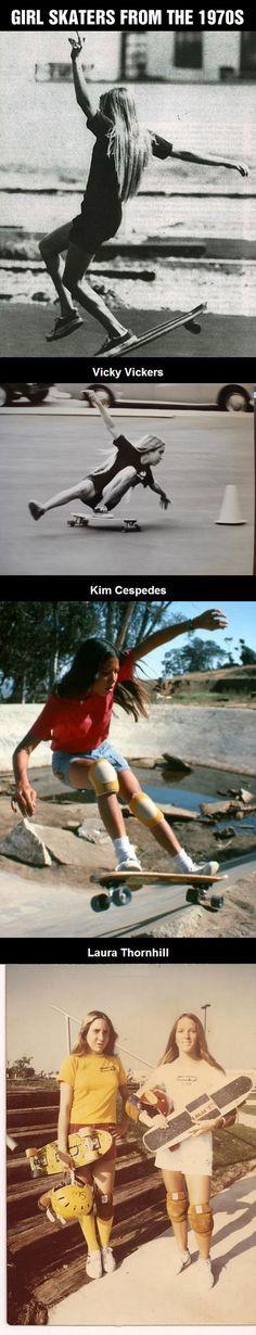 Skater Girls From The 1970s