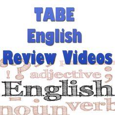 http://www.mometrix.com/academy/tabe-english/   TABE English Review Videos