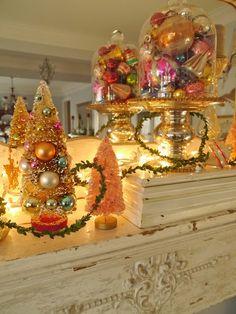 Chateau Chic: Living Room Christmas Mantel