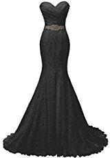 A black wedding dress