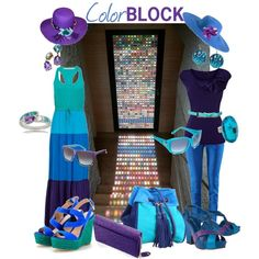LOVE this example of my favorite colors used in color blocking!