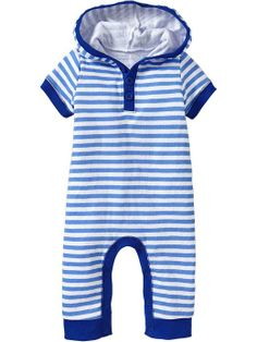 Striped Hooded One-Pieces for Baby Product Image