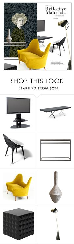 """""""Her canvas, my sofa and reflections on black"""" by laste-co ❤ liked on Polyvore featuring interior, interiors, interior design, home, home decor, interior decorating, Alphason, CALLIGARIS, MOROSO and Lyon Béton"""