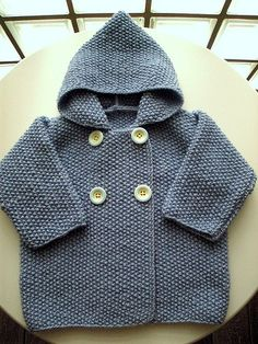 Baby Knitting Patterns Ravelry Seed Stitch Baby Jacket By Elinor Brown – Free Knitted Pattern – (ravelry) Baby Boy Knitting, Knitting For Kids, Baby Knitting Patterns, Baby Patterns, Free Knitting, Baby Knits, Knitted Baby, Brei Baby, Knit Baby Sweaters