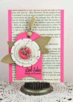 You could use any old book page, or a specific one for the recipient.
