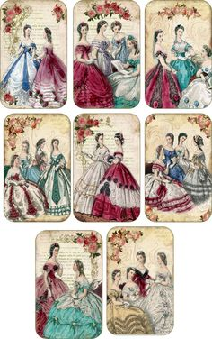 Vintage Jane Austen Gift Tags Scrapbooking Crafts Set 8 with or Without Ribbon | eBay
