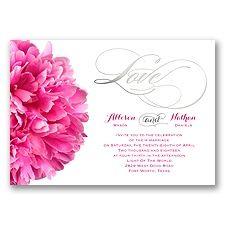 This foil-stamped wedding invitation features a beautiful bright pink peony! #WeddingInvitations #Foil #PinkWedding #DavidsBridal http://www.invitationsbydavidsbridal.com/Wedding-Invitations/Seasonal-Invitations/2947-DB34772-Posh-Peonies-Foil--Invitation.pro?&sSource=Pinterest&kw=SoPinkinCute_DB34772