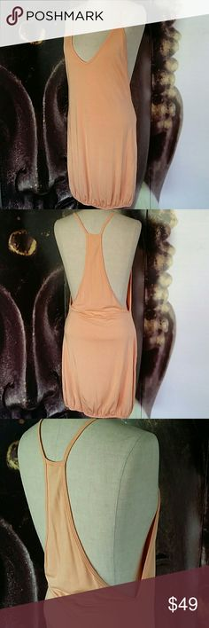 ♥Rachel Pally Pastel Tback Dress♥ Bubble style sleeveless dress Tback with very low cut sides  Pastel orange color EUC Very gently worn Size 8 Rachel Pally Dresses